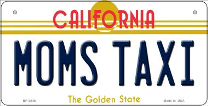 Moms Taxi California Novelty Metal Bicycle Plate BP-6845