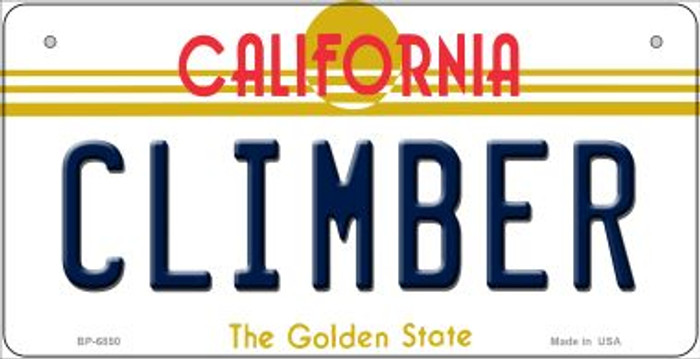 Climber California Novelty Metal Bicycle Plate BP-6850