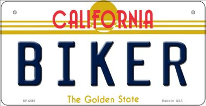 Biker California Novelty Metal Bicycle Plate BP-6851