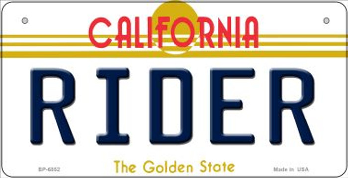 Rider California Novelty Metal Bicycle Plate BP-6852
