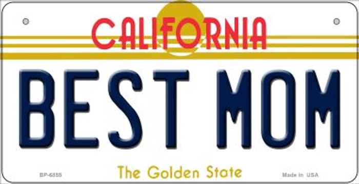 Best Mom California Novelty Metal Bicycle Plate BP-6855