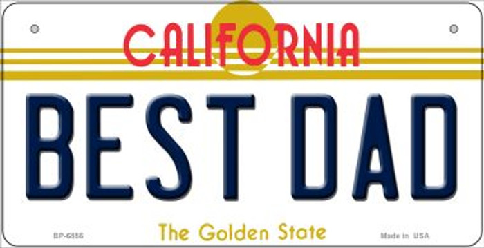 Best Dad California Novelty Metal Bicycle Plate BP-6856
