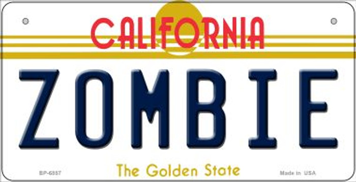 Zombie California Novelty Metal Bicycle Plate BP-6857