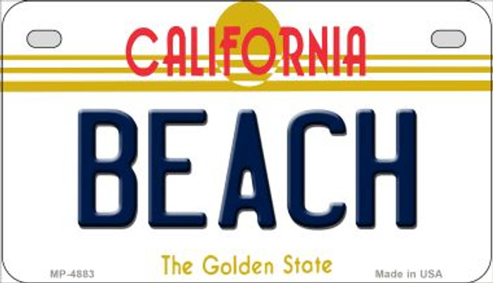Beach California Novelty Metal Motorcycle Plate MP-4883