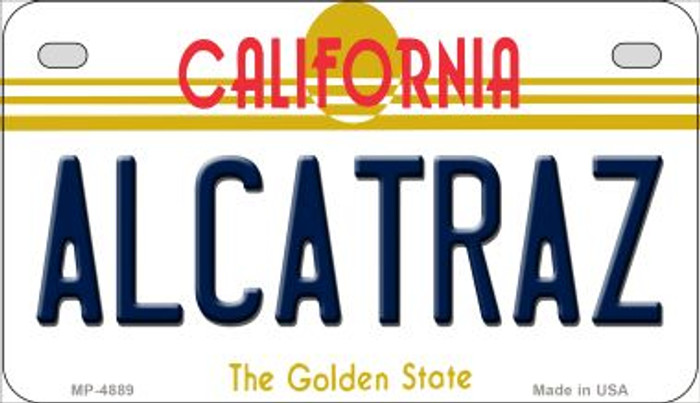 Alcatraz California Novelty Metal Motorcycle Plate MP-4889