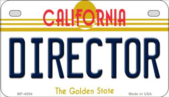 Director California Novelty Metal Motorcycle Plate MP-4894