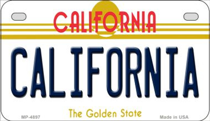 California California Novelty Metal Motorcycle Plate MP-4897