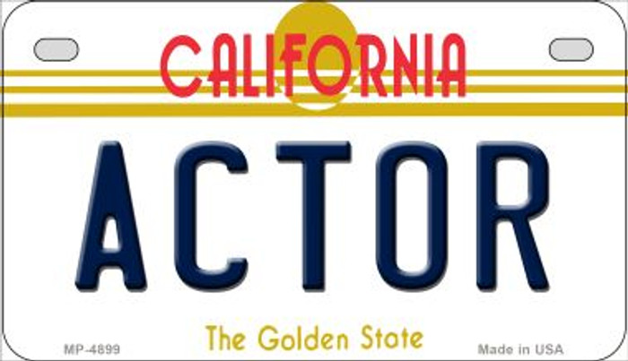 Actor California Novelty Metal Motorcycle Plate MP-4899