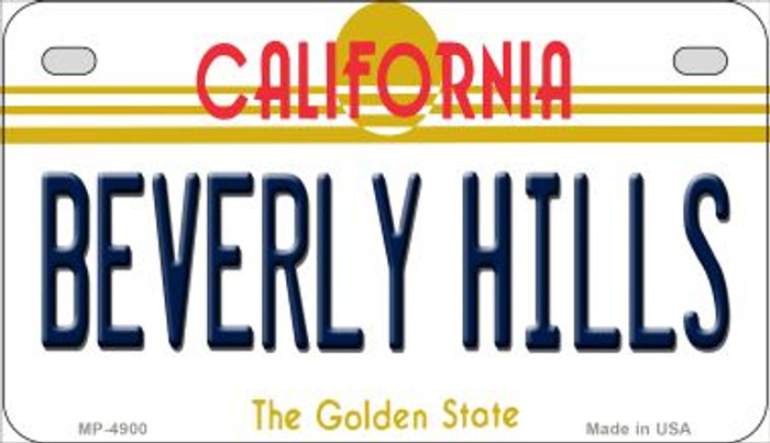 Beverly Hills California Novelty Metal Motorcycle Plate MP-4900