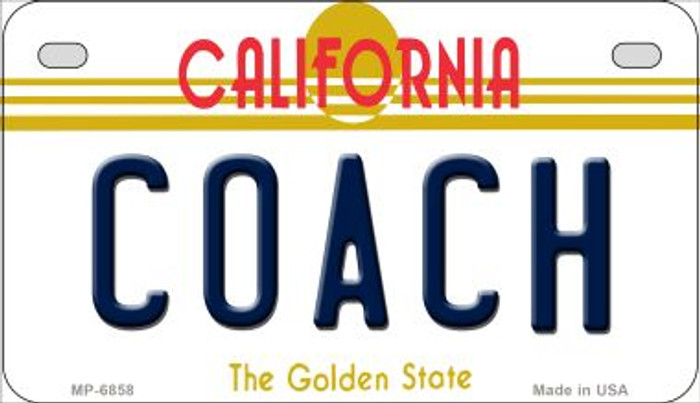 Coach California Novelty Metal Motorcycle Plate MP-6858