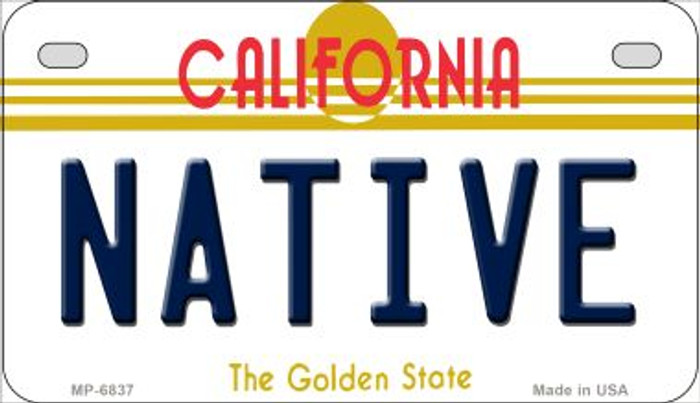 Native California Novelty Metal Motorcycle Plate MP-6837