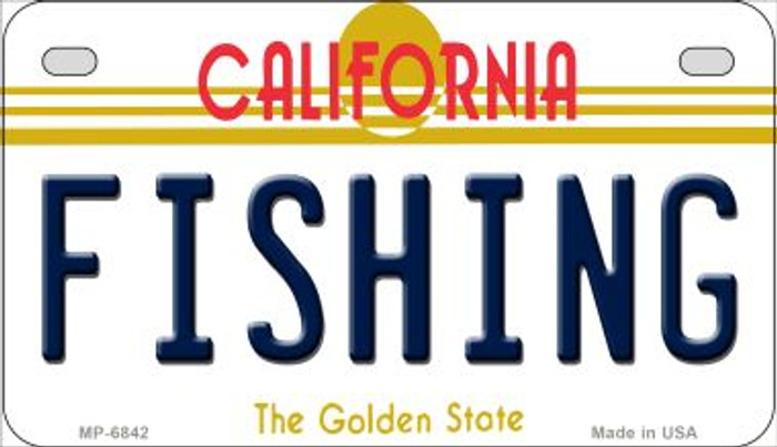 Fishing California Novelty Metal Motorcycle Plate MP-6842