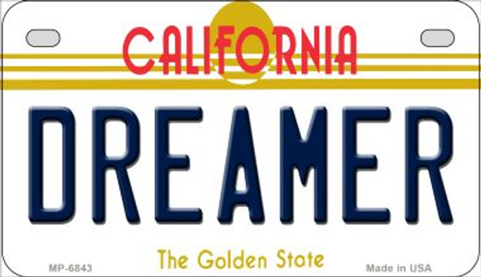 Dreamer California Novelty Metal Motorcycle Plate MP-6843