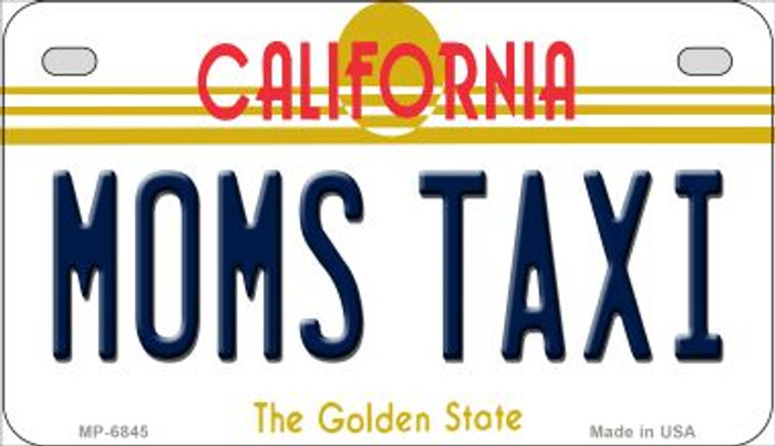 Moms Taxi California Novelty Metal Motorcycle Plate MP-6845