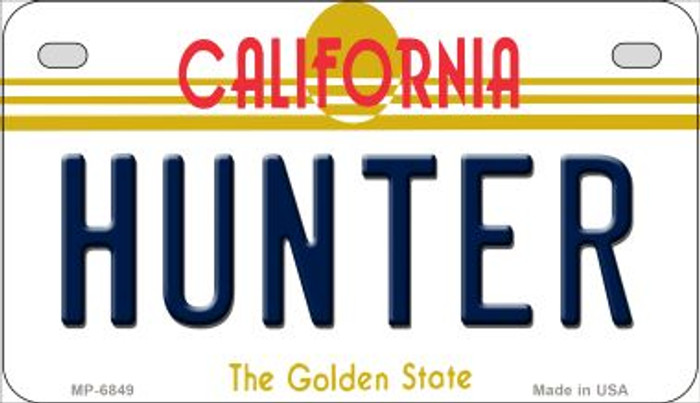 Hunter California Novelty Metal Motorcycle Plate MP-6849