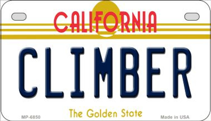 Climber California Novelty Metal Motorcycle Plate MP-6850