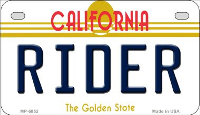 Rider California Novelty Metal Motorcycle Plate MP-6852