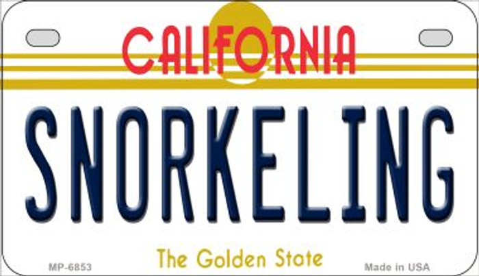 Snorkeling California Novelty Metal Motorcycle Plate MP-6853