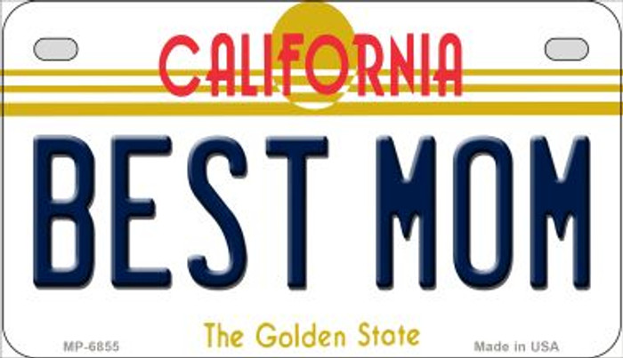 Best Mom California Novelty Metal Motorcycle Plate MP-6855