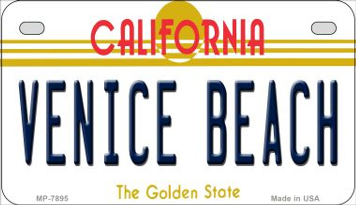 Venice Beach California Novelty Metal Motorcycle Plate MP-7895