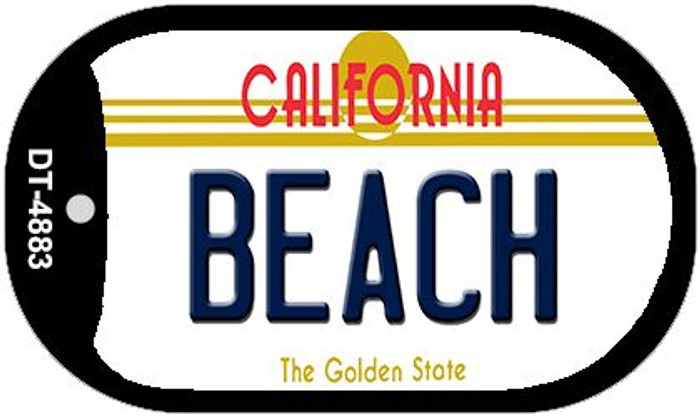 Beach California Novelty Metal Dog Tag Necklace DT-4883