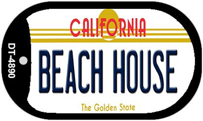 Beach House California Novelty Metal Dog Tag Necklace DT-4890