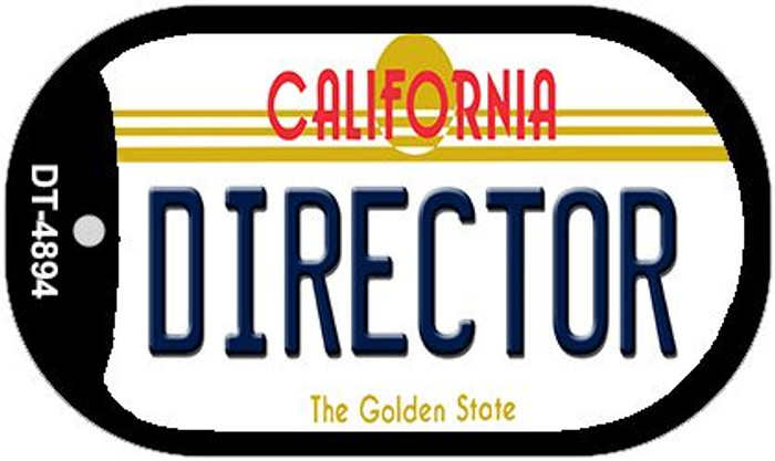 Director California Novelty Metal Dog Tag Necklace DT-4894