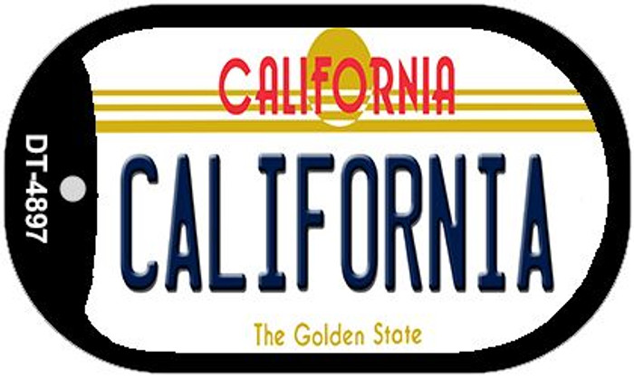 California California Novelty Metal Dog Tag Necklace DT-4897