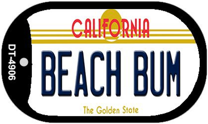 Beach Bum California Novelty Metal Dog Tag Necklace DT-4906