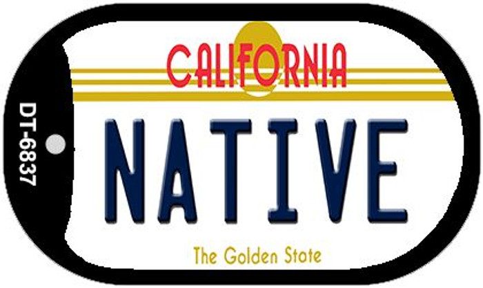 Native California Novelty Metal Dog Tag Necklace DT-6837