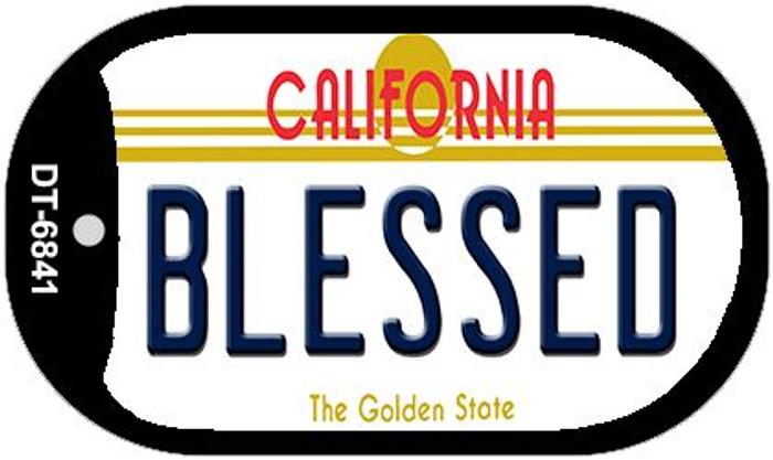 Blessed California Novelty Metal Dog Tag Necklace DT-6841