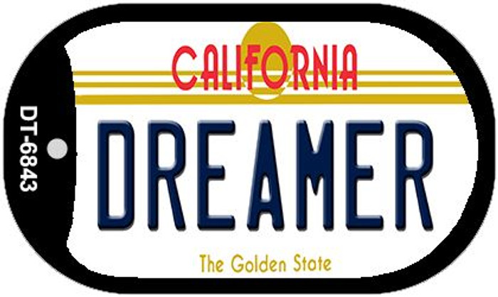 Dreamer California Novelty Metal Dog Tag Necklace DT-6843