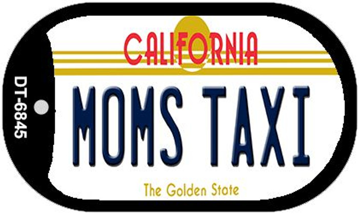 Moms Taxi California Novelty Metal Dog Tag Necklace DT-6845