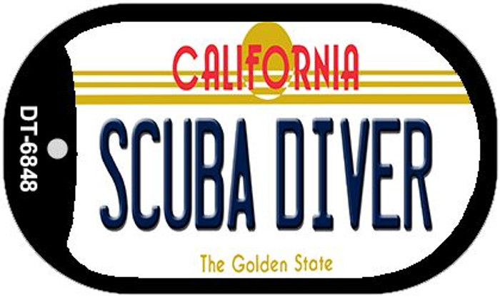 Scuba Diver California Novelty Metal Dog Tag Necklace DT-6848