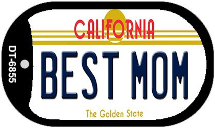 Best Mom California Novelty Metal Dog Tag Necklace DT-6855
