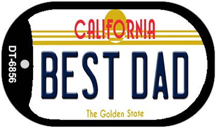 Best Dad California Novelty Metal Dog Tag Necklace DT-6856