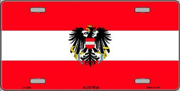 Austria Flag Metal Novelty License Plate LP-3965