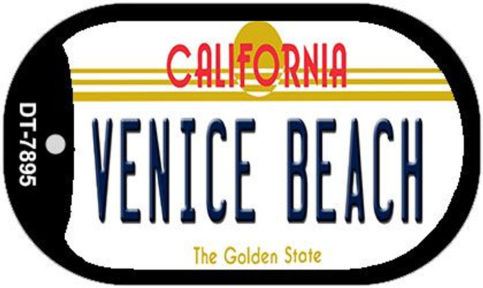 Venice Beach California Novelty Metal Dog Tag Necklace DT-7895