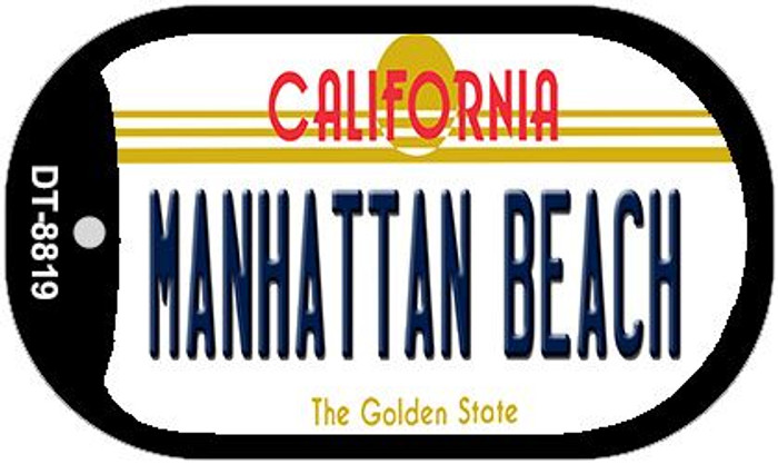 Manhattan Beach California Novelty Metal Dog Tag Necklace DT-8819