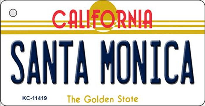 Santa Monica California Novelty Metal Key Chain KC-11419