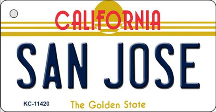 San Jose California Novelty Metal Key Chain KC-11420