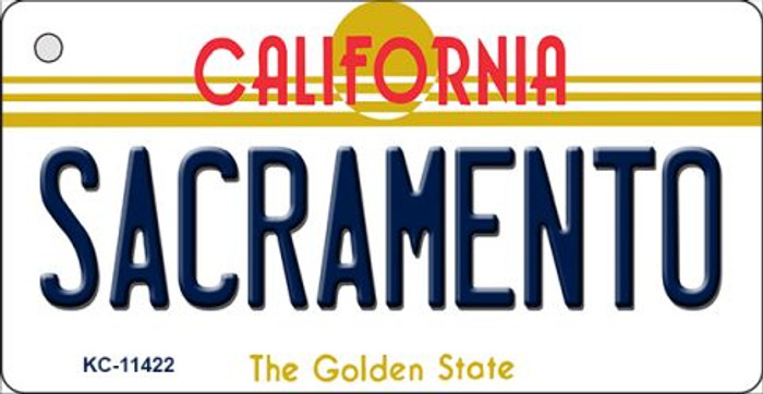 Sacramento California Novelty Metal Key Chain KC-11422