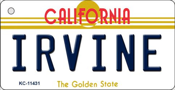 Irvine California Novelty Metal Key Chain KC-11431