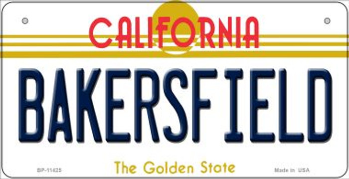 Bakersfield California Novelty Metal Bicycle Plate BP-11425