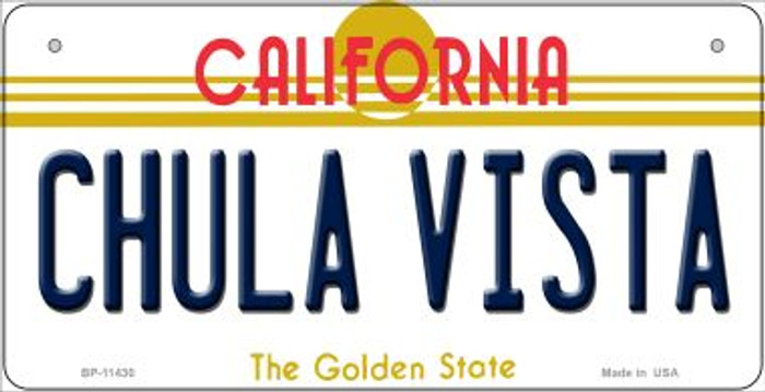 Chula Vista California Novelty Metal Bicycle Plate BP-11430