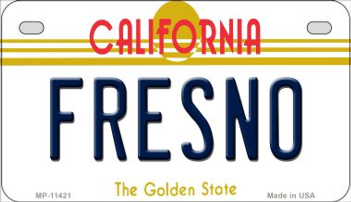 Fresno California Novelty Metal Motorcycle Plate MP-11421