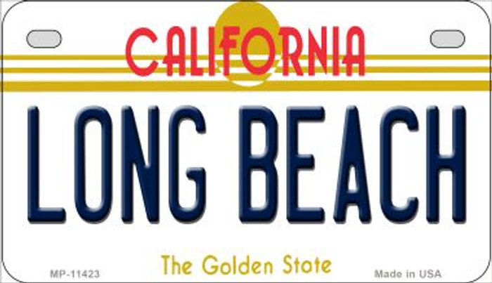 Long Beach California Novelty Metal Motorcycle Plate MP-11423
