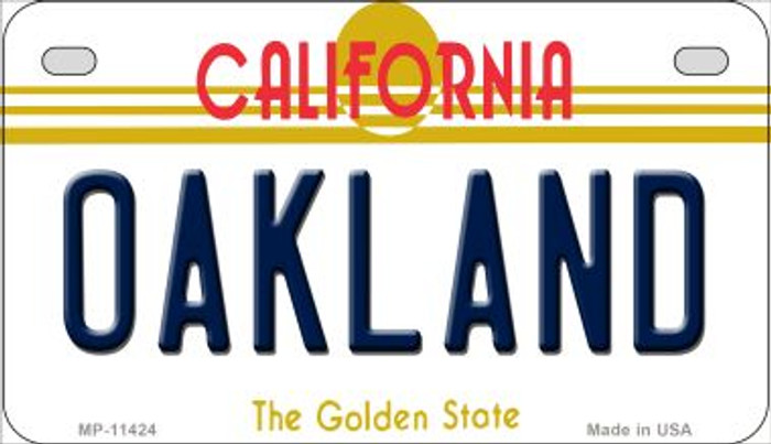 Oakland California Novelty Metal Motorcycle Plate MP-11424