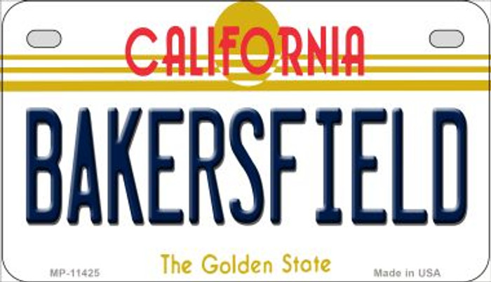 Bakersfield California Novelty Metal Motorcycle Plate MP-11425