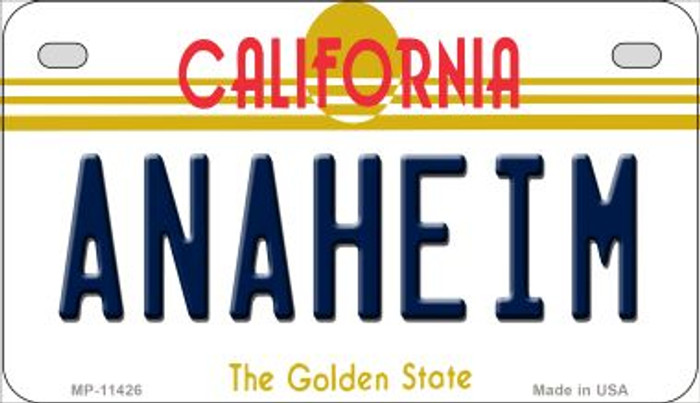 Anaheim California Novelty Metal Motorcycle Plate MP-11426
